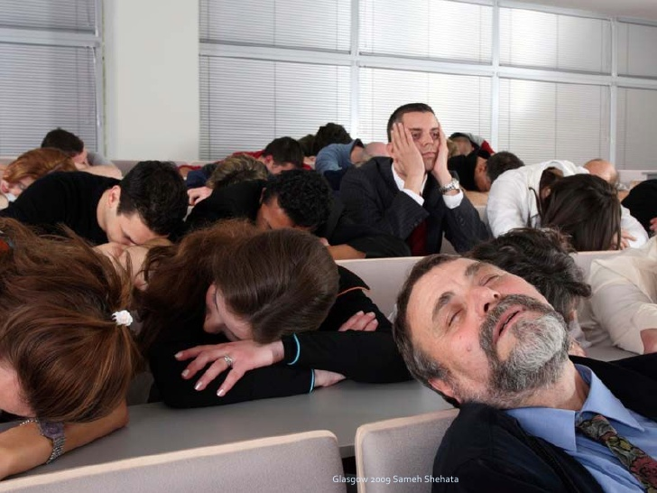 Audiens Tidur Karena Presentasi yang Membosankan